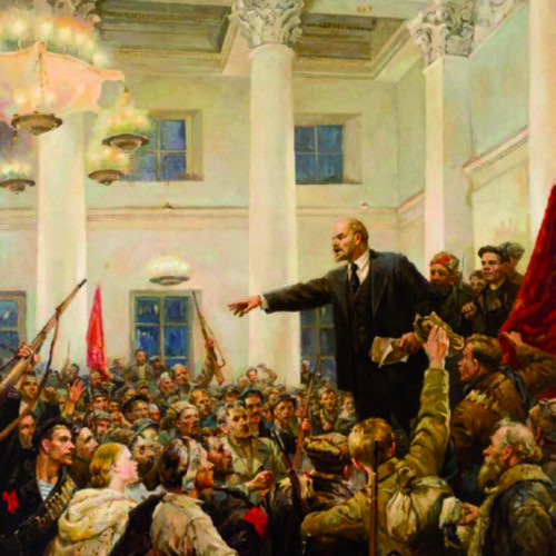 Lenin proclaims soviet power